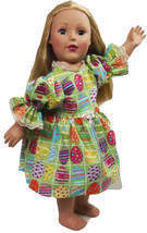 "Clothes American Handmade Green N Dress 18"" Inc... - $19.99"