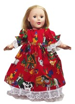 Clothes America Handmade Red N Dress Farmland 1... - $29.99