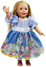 "Clothes American Handmade Blue N Dress 18"" Inch... - $19.99"