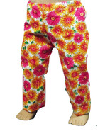"(I20B35) Clothes American Handmade Pink Orange Daisy Pants 18"" Girl Boy ... - $9.99"