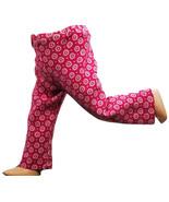 "(I20B35) Clothes American Handmade Pink White Circle Pants 18"" Inch Doll  - $9.99"