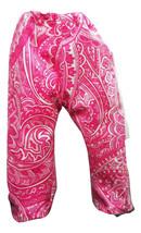 "(B35I20) Clothes American Handmade Pink Paisley Pants 18"" Inch Doll  - $9.99"