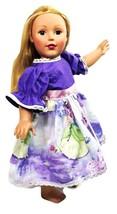 "Clothes American Handmade Purple N Dress 18"" Inch Girl Doll (78C4B121) - $39.99"