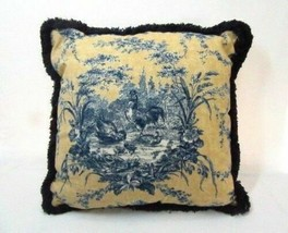 Waverly La Petite Ferme Rooster Toile 16-inch Square Fringed Toss Pillow(s) - $45.00