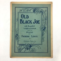 1907 Black Americana Old Black Joe Sheet Music Antique Frederic Lewis - $19.75