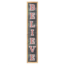 Darice Christmas Believe Wall Plaque: 5 x 28 inches w - $24.99