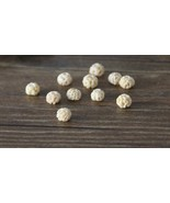 wood bead natural beads grape-fruit beads jewelry beads Buddha beads WB19 - $4.20