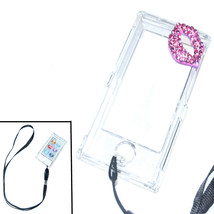 Bling Kiss Crystal Hard case for ipod Nano 7th Gen 7G + detachable Strap - $6.85