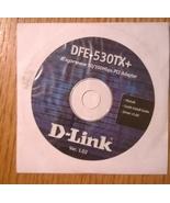 D-Link DFE-530TX+ Express 10/100Mbps PCI Adapter Driver Disc Ver. 1.02 - $3.95