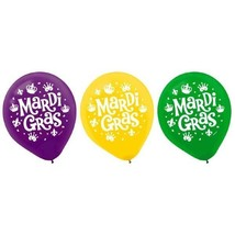 "Mardi Gras Helium Quality Latex Balloons 12"" Assorted Colors 15 Ct - €3,20 EUR"