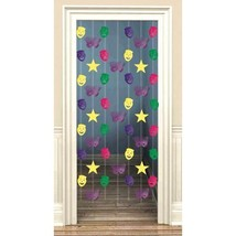 Mardi Gras Doorway Danglers Foil Decoration 7 pc Metallic - $4.74