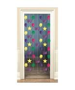 Mardi Gras Doorway Danglers Foil Decoration 7 pc Metallic - $6.33 CAD