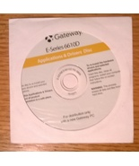 Gateway E-Series 6610D Applications & Drivers Disc 7515271 - $4.95