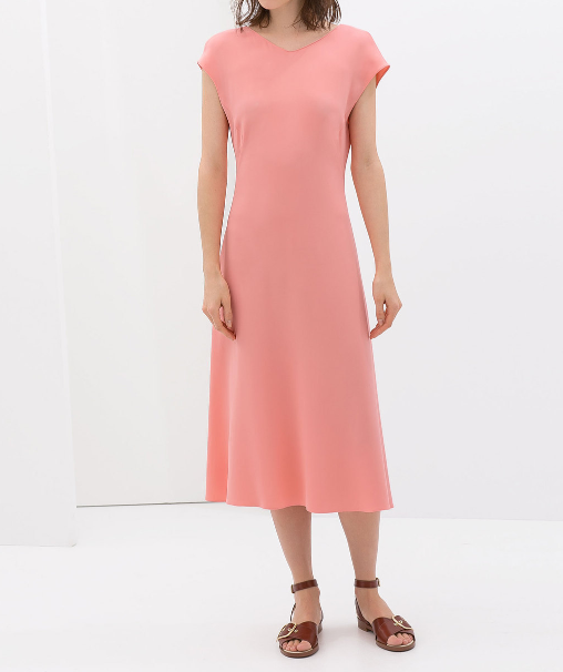 039e87685bbef7 NWT ZARA Sleeveless Midi Dress with Flare Skirt color Pink size S - £69.64  GBP
