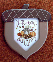 Nuts About Autumn fall squirrel acorn cross stitch chart Waxing Moon Designs - $8.00