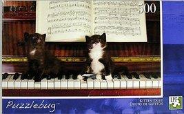 "Puzzlebug 500 Piece Puzzle 18.25"" X 11"" - Kitten Duet - Dueto de Gatitos... - $13.84"