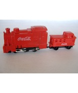 Coca Cola Red Toy Trains Set 2 Plastic Engine Passenger Collectible Adve... - $13.00