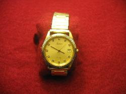 Pre-Owned Mens Belair Gold Tone Quartz Dress Watch 3 ATM Water Resistant Sale Ta