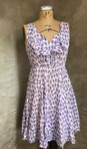 Women's Ruffle Dress Hanky Weight Periwinkle Anthropologie Meadow Rue Diamond 4 - $82.17