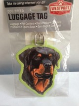 Rottweiler Luggage Tag Baggage Vacation Travel Protection Guard Dog Anim... - $10.62