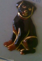 Rottweiler  Dog Pin Brooch Jewelry Porcelain Germany Herder Protection P... - $16.44