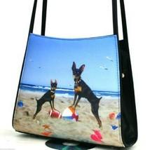 Miniature Pinscher Purse Handbag  Minn Pinn Show Dogs Loyal Angels Compa... - $48.45