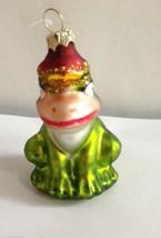 Frog Ornament Glass Prince Christmas Holiday Birthday Girlfriend Gift Ke... - $13.92