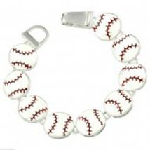 Baseball Bracelet Metal Sports Mom Coach Gift Field Magnetic Link Jewelr... - $16.47