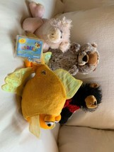GANZ Soft Stuffed Set/4 WEBKINZ Mixed Lot FISH Pig Bear Groundhog Plush ... - $28.04