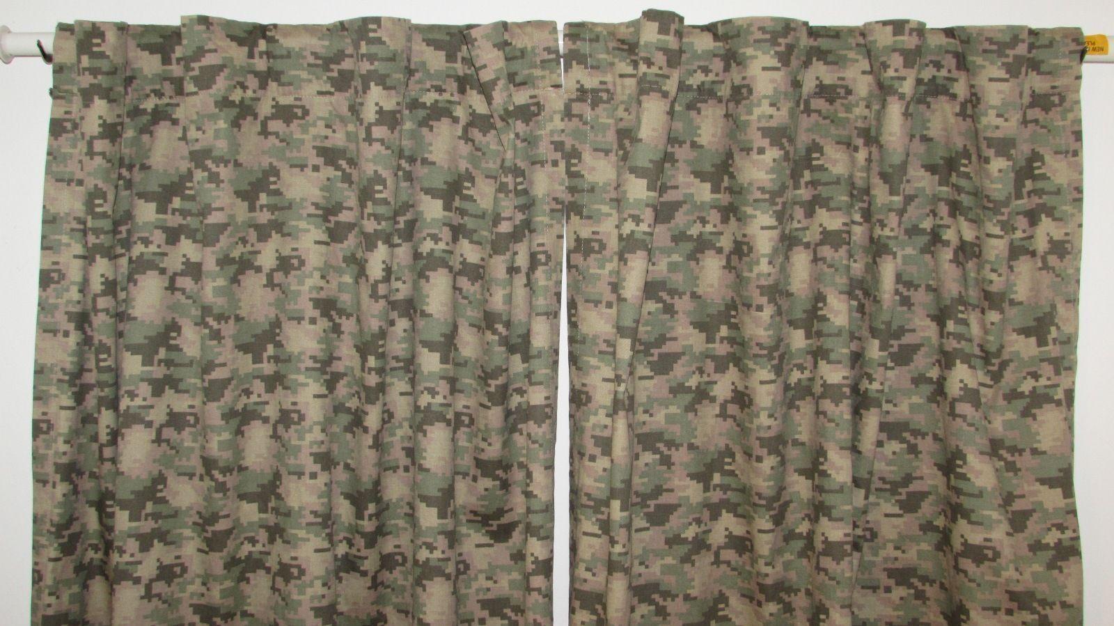 "Your Zone Energy Saving Camouflage/Camo Window Curtain/Panel, 40"" x 80"""