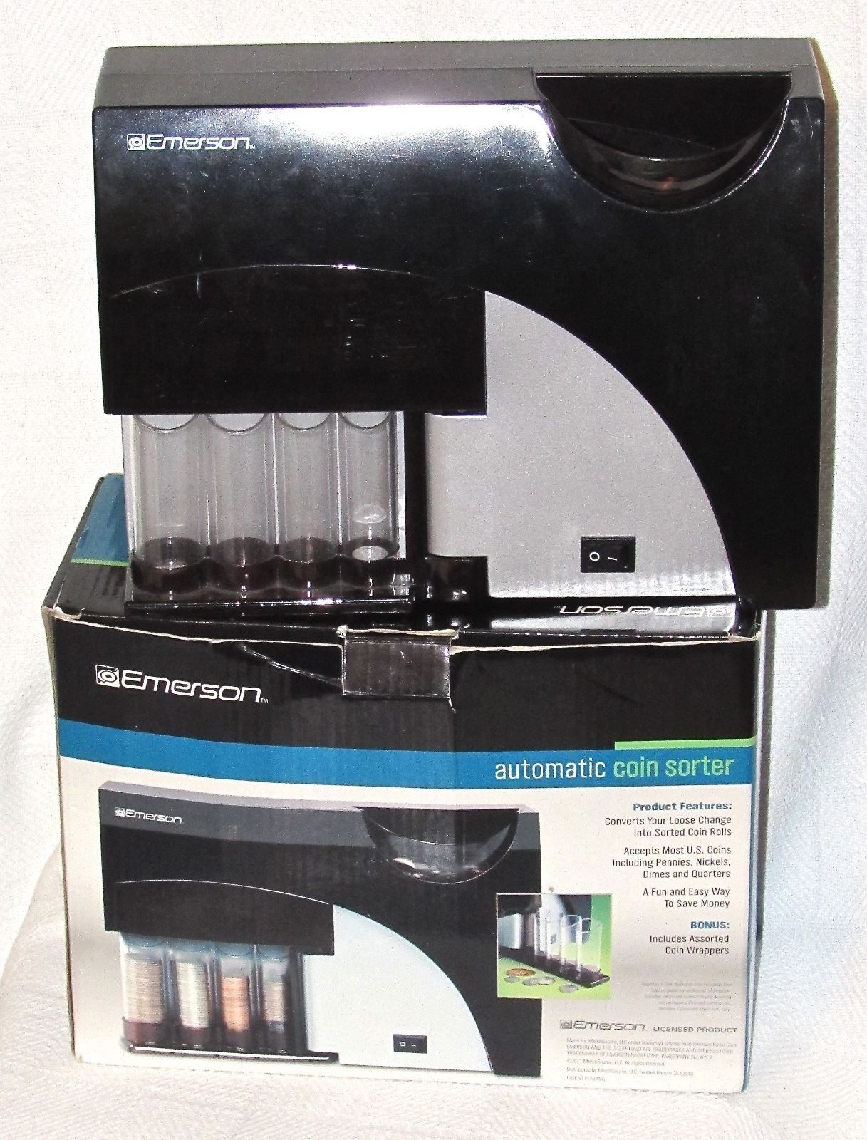 Emerson Automatic Coin Sorter Boxed