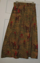 Vintage Cambridge Dry Goods Long Cotton Skirt Sz 8 w/ Horses - $40.00