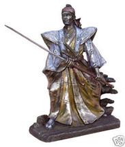 "Samurai in Fighting Stance (bronze finish) 8"" Statue - $82.32"