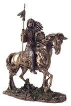 "Mandan Indian Chief Bronze 7"" H Statue Reproduction - $73.50"