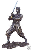 """Ninja in Action Defensive Stance (Bronze) 10.25"""" Statue - $68.60"""