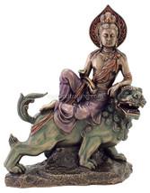 """Manjusri - Bodhisattva of Transcendent Wisdom  (Bronze) 10"""" High Statue - $82.32"""