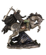 "Viking Warrior on Horse Going into Battle  (Cold Cast Bronze) 18.5"" High Statue - $530.14 CAD"