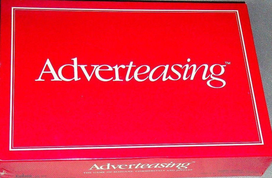 Vintage 1988 Adverteasing Card Board Game Ideal Cadaco Complete FREE SHIPPING!!