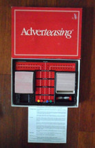 Vintage 1988 Adverteasing Card Board Game Ideal Cadaco Complete FREE SHIPPING!! image 2