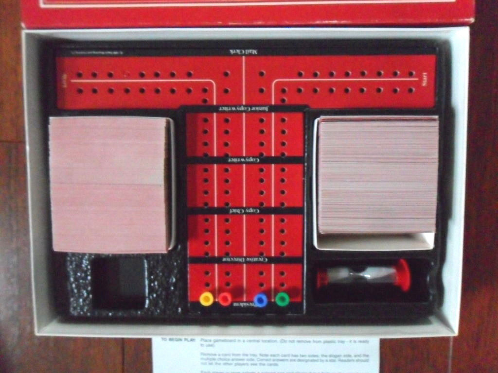 Vintage 1988 Adverteasing Card Board Game Ideal Cadaco Complete FREE SHIPPING!! image 3