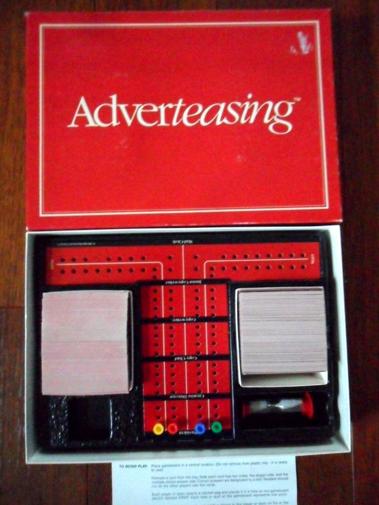 Vintage 1988 Adverteasing Card Board Game Ideal Cadaco Complete FREE SHIPPING!! image 4