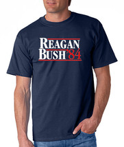 REAGAN BUSH 84 Retro Tee Shirt Ronald and George Republican Election 198... - $7.37+