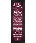 "Bloomsburg University ""Huskies""- 24 x 8 Family Cheer Framed Print - $39.95"