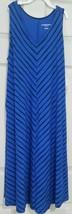 NEW Liz Lange Maternity Dress Blue Black Diagonal Stripe Sz X-Small XS F... - $18.55