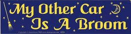 My Other Car Is A Broom Witch Vintage 3X11 1/2 Vinyl Women Sticker  - $4.50