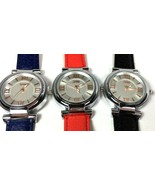 SKMEI Womens Casual Leather Analog Quartz Wrist Watch Waterproof Set of ... - $16.48