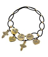 Auralee & Company Women's Faith Hope Love Hearts Crosses Stretch Bracele... - $14.99