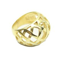 Auralee & Co. Gold Tone Metal Lattice Weaved Dome Ring (7) [Jewelry] - $19.00