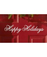 Happy Holidays Xmas Seasonal Decor Vinyl Wall Quote Sticker Decal  - $8.99+