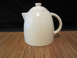 2011 Starbucks Pottery Ceramic Coffee Tea Pitcher 25 oz White - $15.99